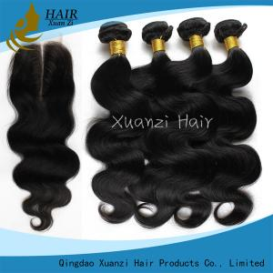 China Fashion Black Women Virgin Remy Hair Extensions , 100 Human Hair Weave No Tangling on sale