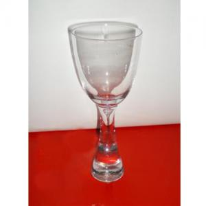 China glass goblet,wine glass with double wall ,different color and sizes on sale