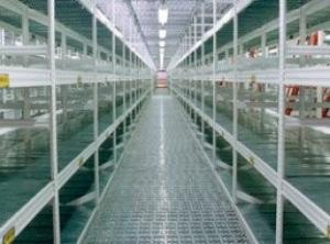 China Heavy duty steel warehouse long span industrial shelving units with 2 safety pins on sale