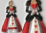 Holiday Queen Of Hearts Princess Halloween Costumes Prince Design With Choker
