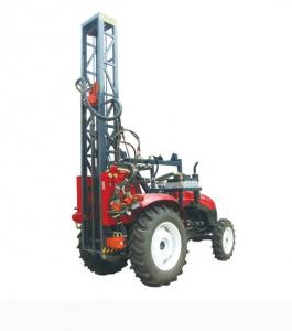 China 100m Rock Trailer Mounted Water Well Drilling Rigs / Hydraulic Rig Machine on sale
