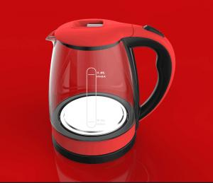 China COLOR RED STAINLESS STEEL HOUSEHOLD ELCTRIC KETTLE WITH NEW PACKAGE AND INSTRUCTIONS on sale