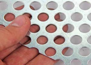 China Light Weight Construction Perforated Metal Mesh 1.0-2.0mm Thickness Precise Size on sale