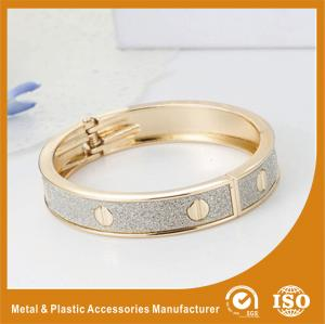 China Solid Brass 18K Gold Cuff Bangle Bracelets Fashion Jewelry Bangles on sale