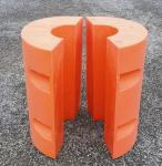 Orange pipe floaters to export to South East of Asia