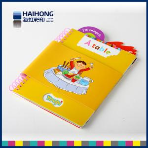 China Customized spiral bound photo book printing , spiral bound notepads For Kids on sale