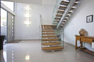 ... Quality Open Riser Staircase /laminated Glass Staircase / Glass Stairs  For Sale