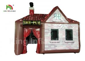 China Customized 5x5m PVC Inflatable Event Tent Single Door For Party Bar EN71 on sale