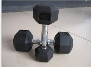 China Fitness plastic iron plated dumbbell hexagonal fixed dumbbell 1-10kg 2.5-50kg commercial men's dumbbell on sale