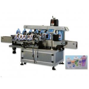 China Self Adhersive automatic Double Side Sticker Labelling Machine , Flat / Square Bottle Sticker Labeling Machine on sale