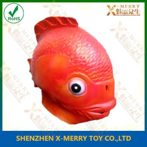 China X-MERRY  Gold fish latex full head mask deluxe handmade masquerade decor props mask xam013 on sale