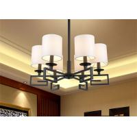 China White Simple Led Chandelier Lighting With 6 Light Chandelier , Superior Electroplating on sale