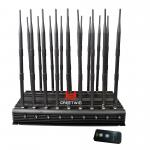China GW-JA18 Mobile Phone Signal Jammer 18 Antennas 2g 3G 4G WiFi 2.4G Full Bands 130MHz-6GHz wholesale