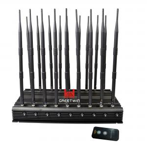 China GW-JA18 Mobile Phone Signal Jammer 18 Antennas 2g 3G 4G WiFi 2.4G Full Bands 130MHz-6GHz on sale