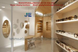 China Maple wood Furniture in Wall Cabinets light color for Sunglass Store Display Fixture with Storage Drawers on sale