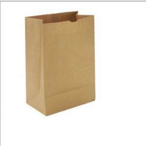 China Brown Kraft Paper Bags Recyclable Gift Food Bread Candy Packaging Bags For Boutique on sale