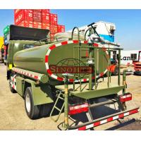 China 1000 - 1200 Gallons Army Water Truck , 4x2 / 4x4 Drive Type Water Sprinkler Truck on sale