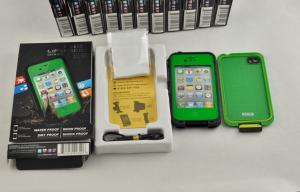 China Green Dustproof Waterproof Cell Phone Case Lifeproof For Iphone 4s on sale