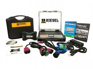 China Universal Diesel Truck Diagnostic Laptop Tool Scanner Complete Kit with Laptop on sale