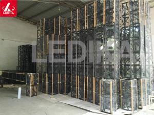 China Customized Colorful Square Black Light Coated Truss Audio visual Aluminum Painted on sale