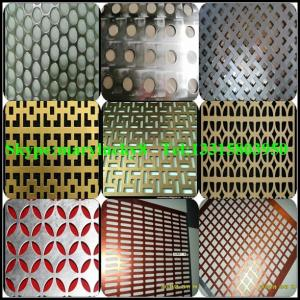 China Decorative aluminum perforated metal on sale
