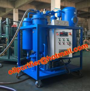 China Turbine used Oil Filtration machine, Dewater and break emulsification, multi-stage filtration via auto-back  flush on sale