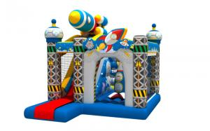 China Full Digital Painting Inflatable Jump House / Kids Blow Up Bounce House Combo on sale