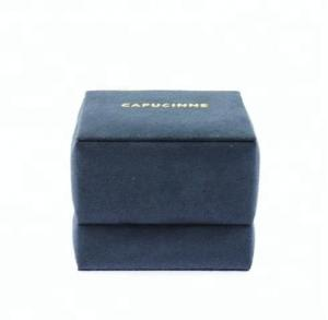China Flocking Jewelry Packaging Boxes Customized Service For Wedding Ring Storage on sale