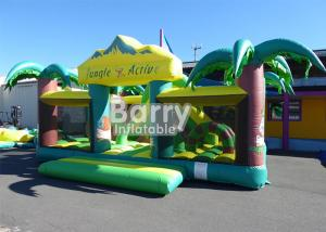 China Outdoor n Indoor PVC Material Equipment Toys Jungle Theme Big Toddler Inflatable Playground on sale