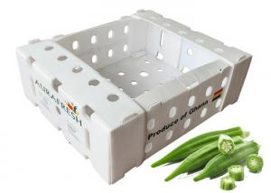 China 11lbs Fresh Okra PP Corrugated Plastic Packaging on sale