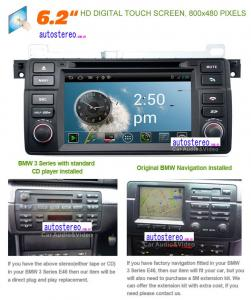 China Android 4.0 HD Car Audio for BMW 3 Series E46 M3 1998-2006 on sale