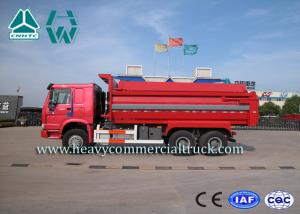 China Red Right Hand Drive Garbage Collection Vehicles Zz3257M4347C1 Chassis on sale