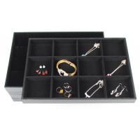 Black Velvet Jewelry Tray Bracelet Ring Necklace Earring Display Stand Rack Jewellery Holder