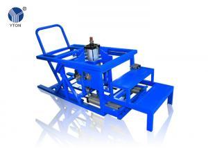 China Blue Colour OTR Retreading Equipment 200Kg Tire Curing Rim Fixing Machine on sale