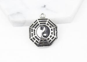 China Chinese Culture Stainless Steel Fashion Jewelry Yin Yang Gossip Amulet Pendant Necklace on sale