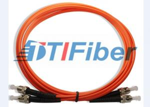 China ST / PC - ST / PC Multinode 50 / 125 Fiber Optic Jumper  Cable LSZH Orange Jacket on sale