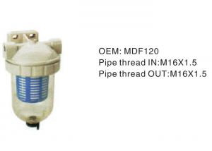 China White Inline High Pressure Hydraulic Filter Mdf120 Pipe Thread IN M16×1.5 on sale