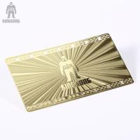 China Innovative Brass Personal Metallic Gold Business Cards Different Pattern Option on sale