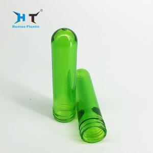 China Beauty Transparent Green Pet Preform , Lightweight Pet Bottle Preform on sale