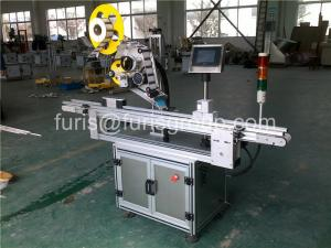 China Safety Automatic Label Applicator 2400×1350×1500 mm Flat Bottle Labeling Machine on sale