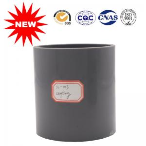 China Black Color UPVC Coupling Pipe Fittings For Supply System , Carton Transport Packaging on sale