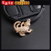 Crystal Rhinestone Crocodile Metal Decorative Pendant Brooch Pin ,Animal Cute Brooch Gift
