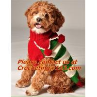 pet clothing christmas, Dog Knitting Wool jacquared Turtle neck Sweater Pet Winter Clothes