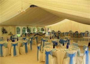 China White PVC Canopy Wedding Event Tents 20x30m Aluminum Alloy Clear Span Marquee on sale