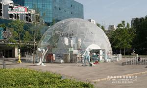 China Clear Geo Shelter Dome Tent With Double PVC - Coated Polyester Textile Cover on sale