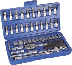 China Carbon Steel 45PCS 1/4'' Drive Metric Socket Tools Set , Chrome Vanadium Socket Set on sale