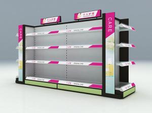 China Metal Material Cosmetic Display Racks / Makeup Display Shelves With Adjustable Layer on sale