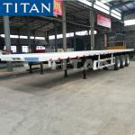 TITAN tri axle 70ton 20ft 40 foot container flatbed semi trailer