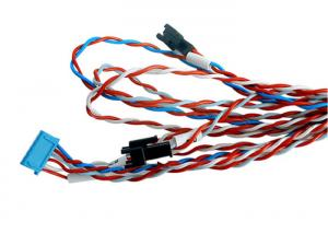 China 24AWG Universal Wiring Harness Twisted Pair Bespoke Connector  0.9mm OD on sale