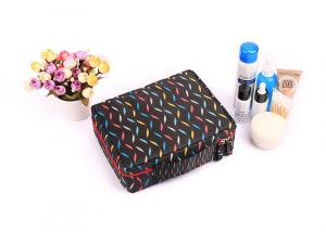 China Polyester Travel Cosmetic Portable Makeup Bag , Brush Pouch Toiletry Kit Cute Women Carrying Case on sale